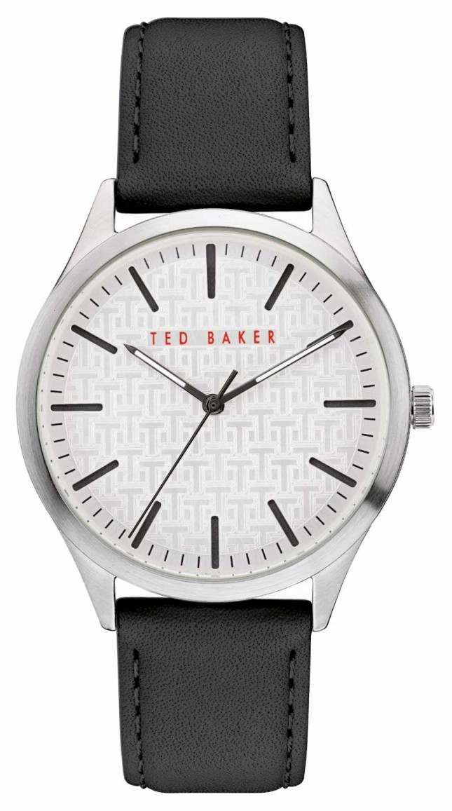 Ted Baker | Men's | Manhatt | Black Leather Strap | Silver Dial | BKPMHF903