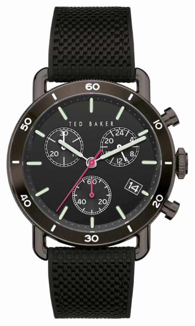 Ted Baker | Men's | Magarit | Black Silicone Strap | Black Dial | BKPMGF903
