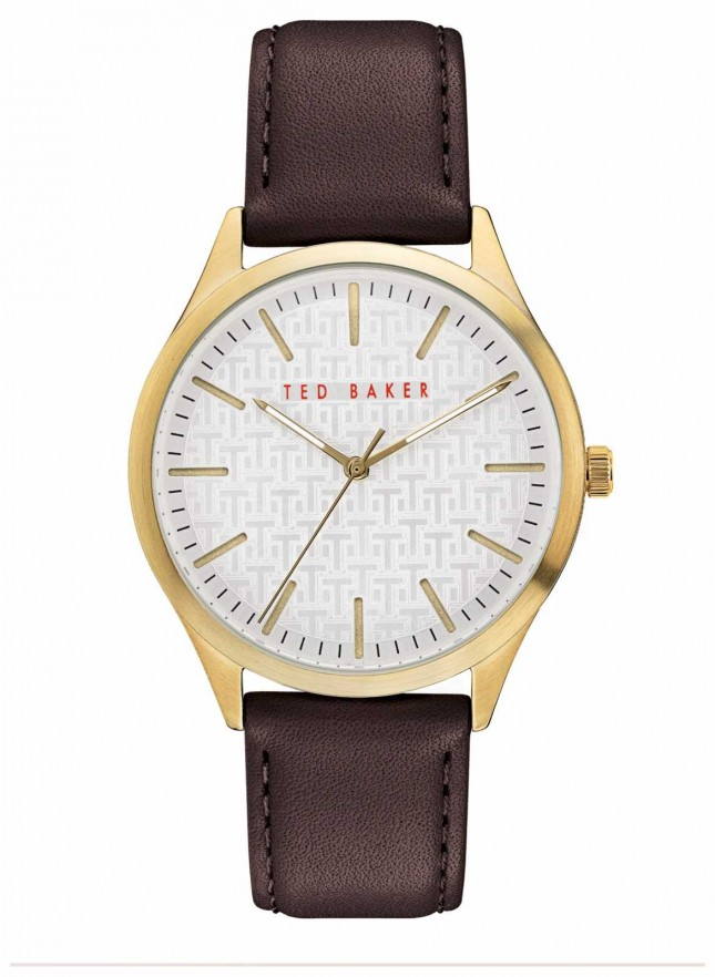 Ted Baker | Men's | Manhatt | Burgundy Leather Strap | Silver Dial | BKPMHF901