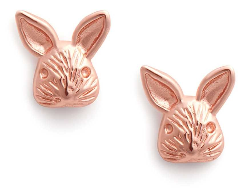 Olivia Burton 3D Bunny | Stud Earrings | Rose Gold OBJAME110