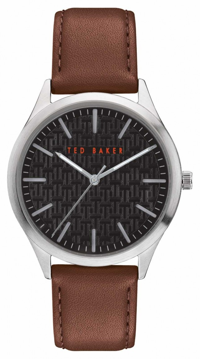 Ted Baker | Men's | Manhatt | Brown Leather Strap | Black Dial | BKPMHF902
