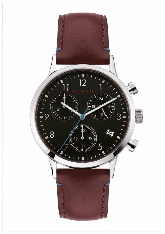 Ted Baker | Men's | Cosmop | Brown Leather Strap | Black Dial | BKPCSF901