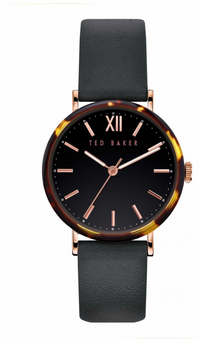 Ted Baker | Women's | Phylipa | Black Leather Strap | Black Dial | BKPPHF912