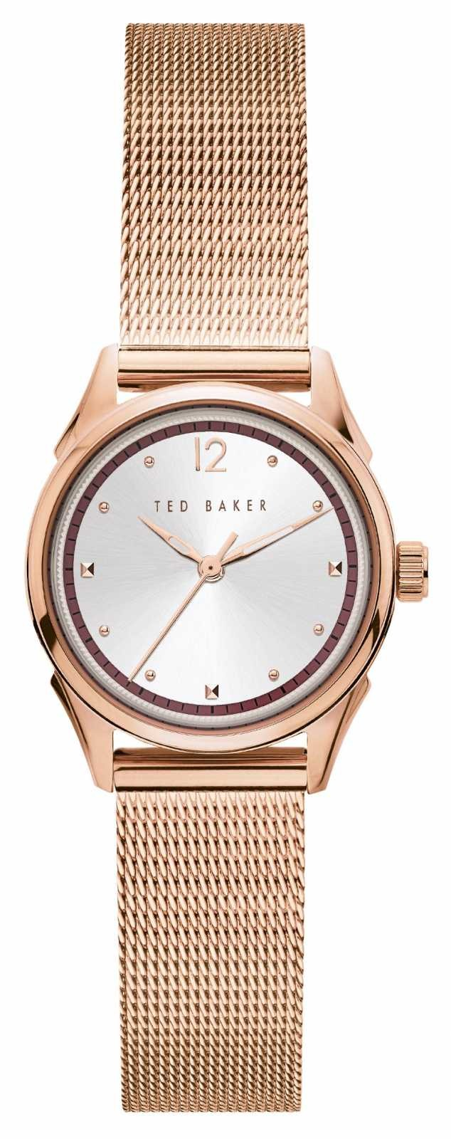 Ted Baker | Women's | Luchiaa | Rose Gold Mesh Bracelet | Silver Dial | BKPLUF905