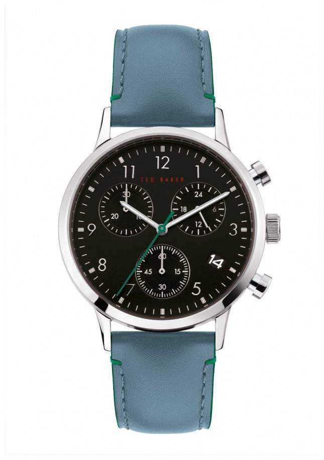 Ted Baker | Men's | Cosmop | Blue Leather Strap | Black Dial | BKPCSF903