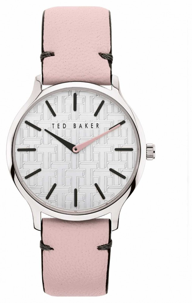 Ted Baker | Women's | Poppiey | Pink Leather Strap | Silver Dial | BKPPOF903