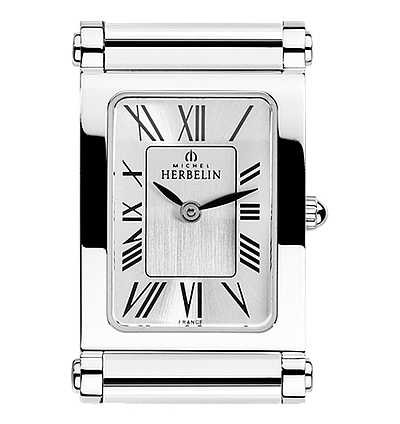 Michel Herbelin Antarès | Stainless Steel Watch Face Only | Roman Numerals H.17048/01