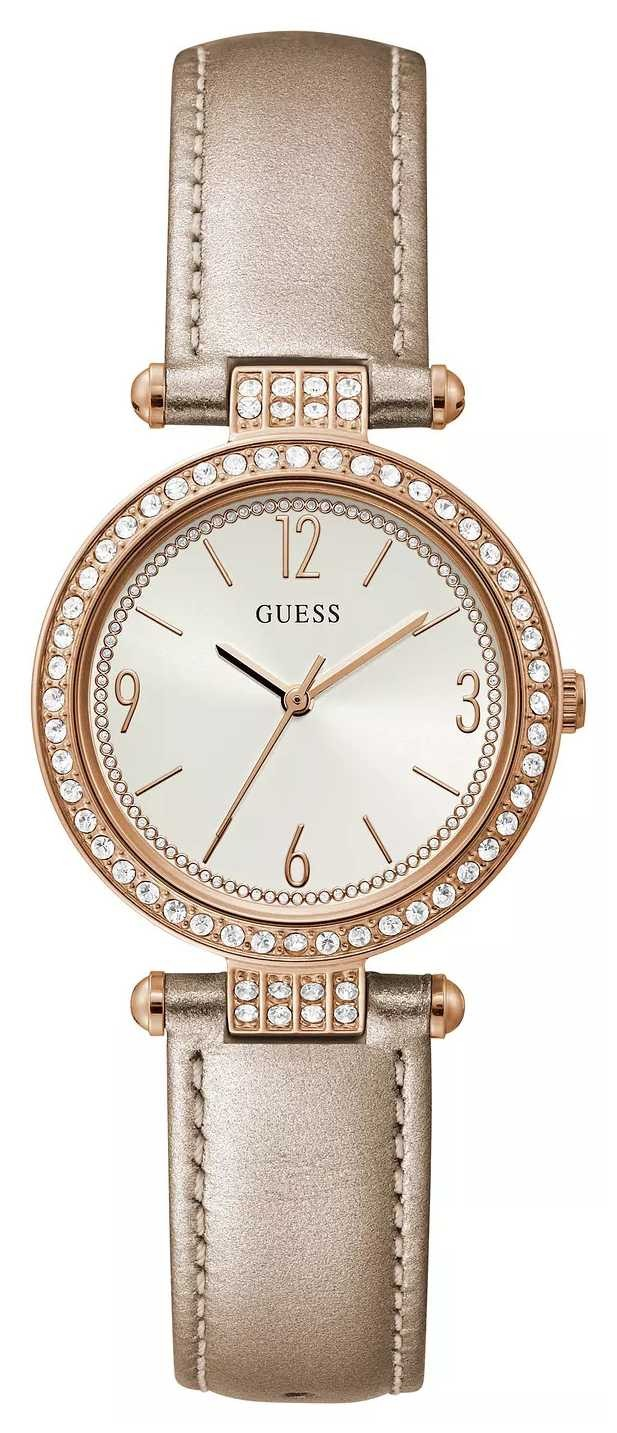 Guess Terrace | Women's Nude Leather Strap | Sunray Dial GW0116L1