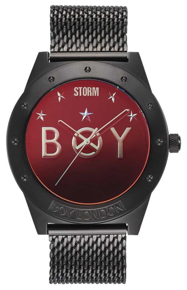 STORM Boy Star Slate Lazer Red   Limited Edition   Slate Mesh Bracelet 47484/SL/R