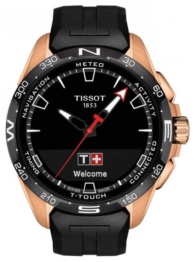 Tissot T-Touch Connect Solar | Black Silicone Strap T1214204705102