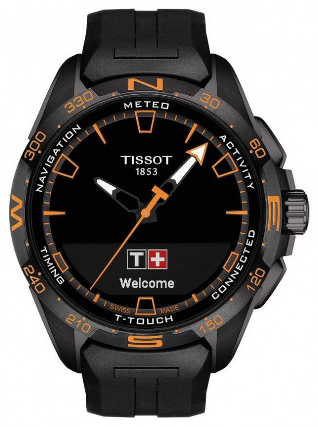 Tissot T-Touch Connect Solar | Black Silicone Strap T1214204705104