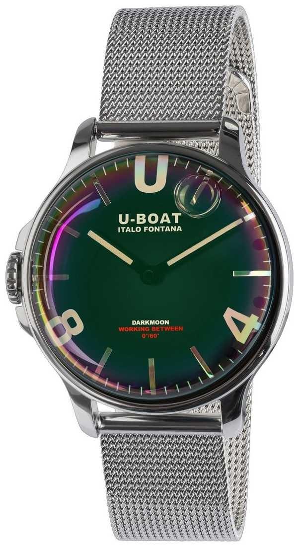 U-Boat Darkmoon 38mm Black SS Metal Bracelet 8471/MT