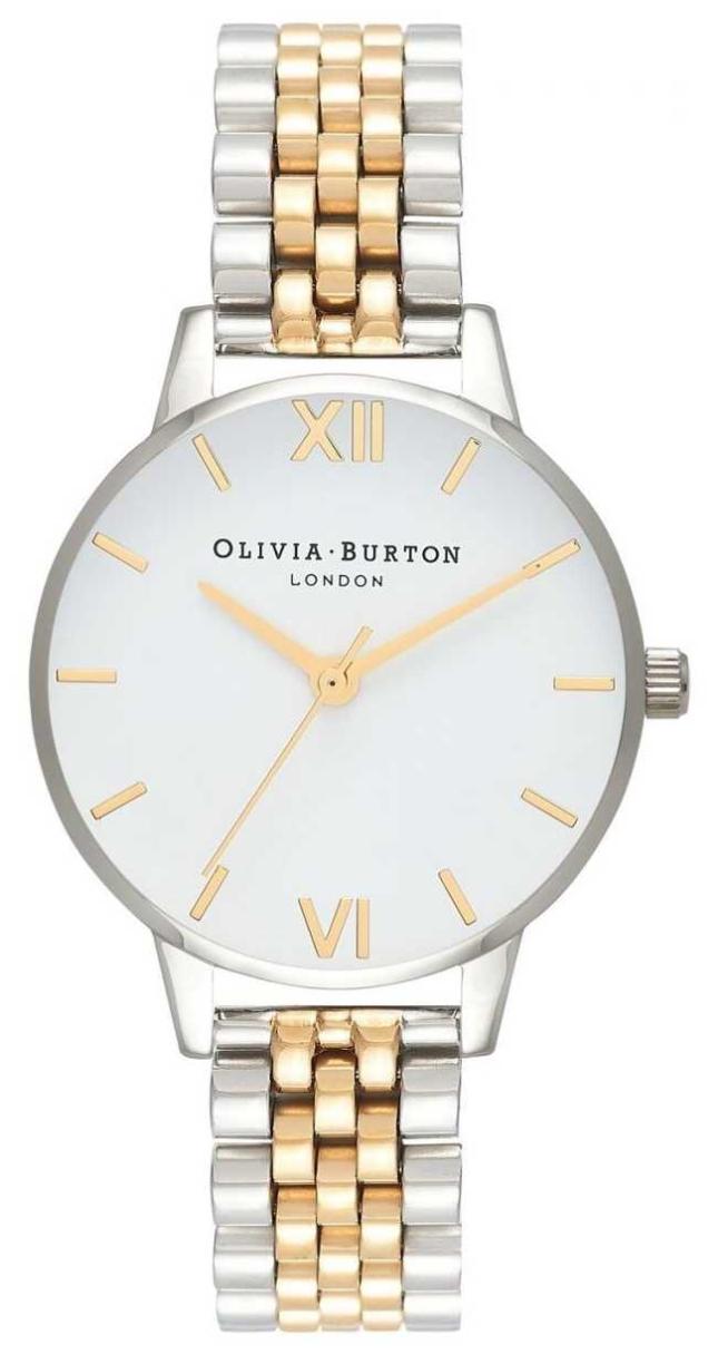 Olivia Burton   Women's   Midi Dial   Two-Tone Bracelet   White Dial   OB16MDW34