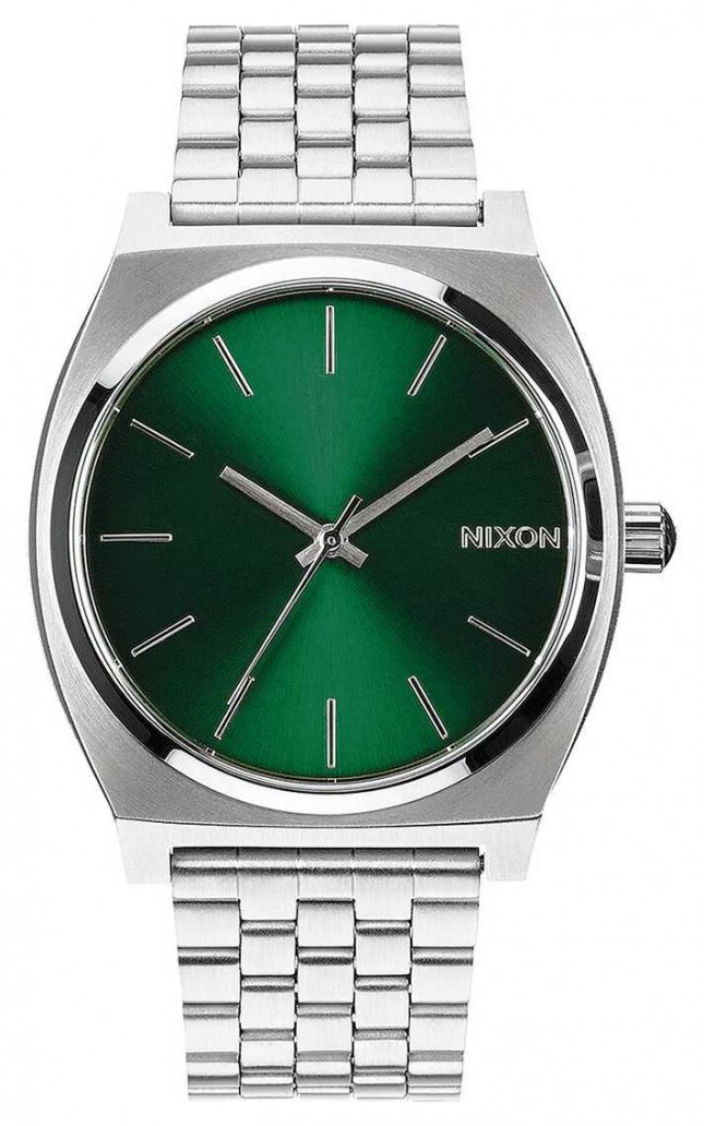 Nixon Time Teller | Green Sunray | Stainless Steel Bracelet | Green Dial A045-1696-00