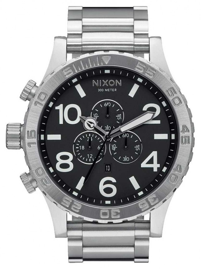 Nixon 51-30 Chrono | Black | Stainless Steel Bracelet | Black Dial A083-000-00