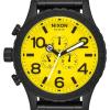 Nixon 51-30 Chrono   All Black / Yellow   Black IP Steel Bracelet   Yellow Dial A083-3132-00