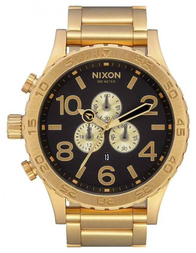 Nixon 51-30 Chrono | All Gold / Black | Gold IP Bracelet | Black Dial A083-510-00