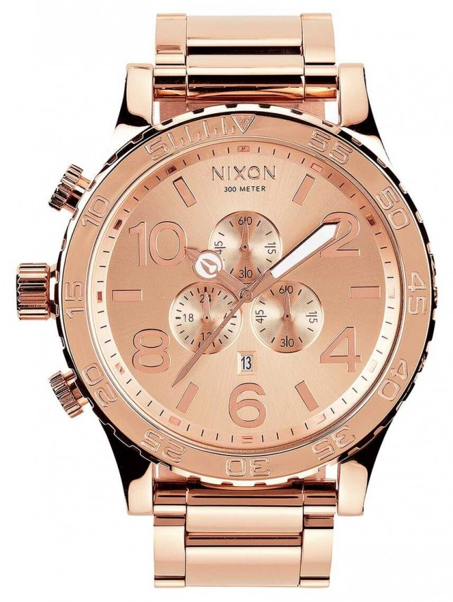 Nixon 51-30 Chrono | All Rose Gold | Rose Gold IP Bracelet | Rose Gold Dial A083-897-00