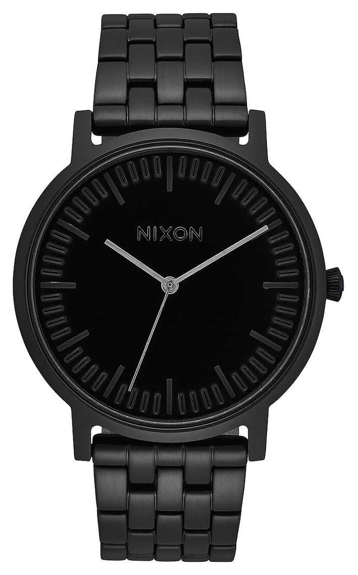 Nixon Porter | All Black | Black IP Steel Bracelet | Black Dial A1057-001-00