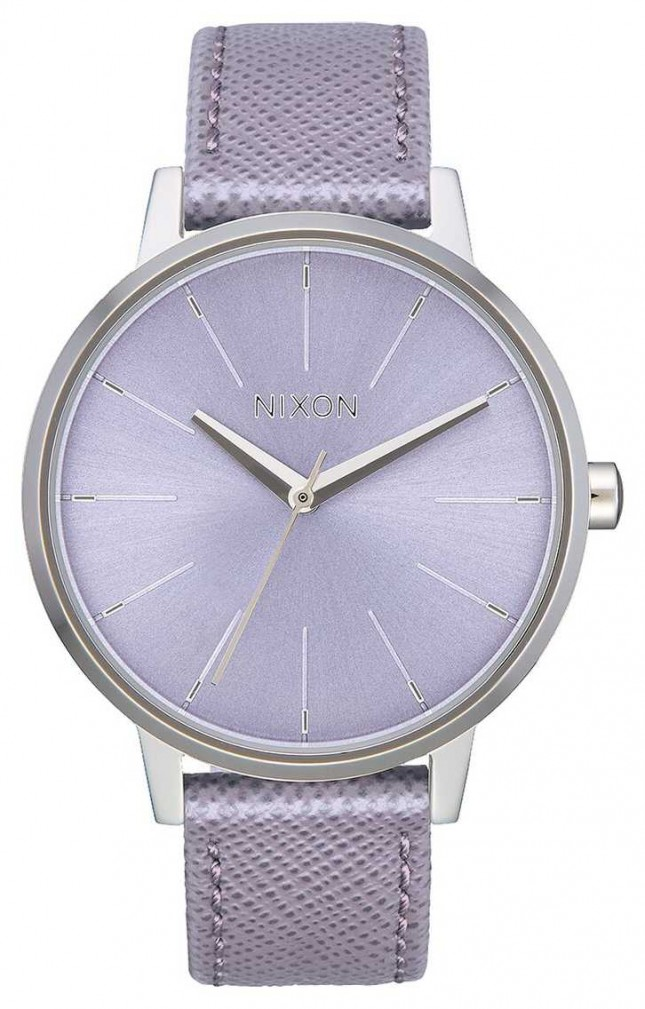 Nixon Kensington Leather | Lavender | Lavender Leather Strap | Lavender Dial A108-236-00