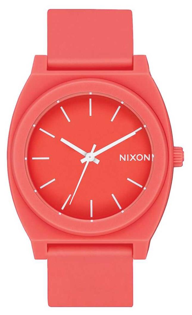 Nixon Time Teller P | Matte Coral | Coral Silicone Strap | Coral Dial A119-3013-00