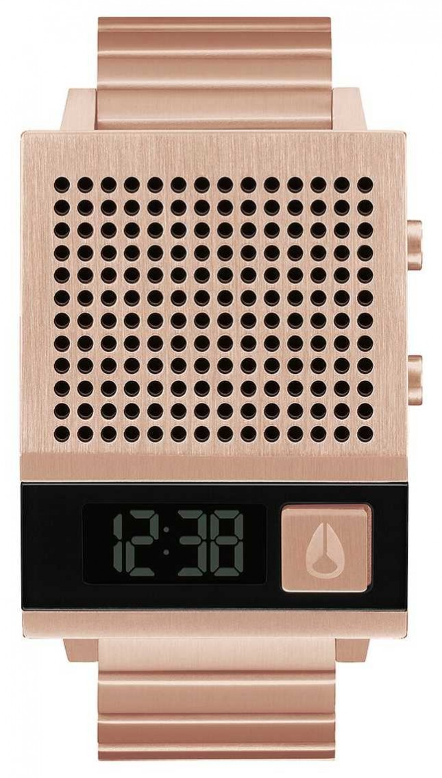 Nixon Dork Too | All Rose Gold | Digital | Rose Gold IP Steel Bracelet | Talking A1266-897-00