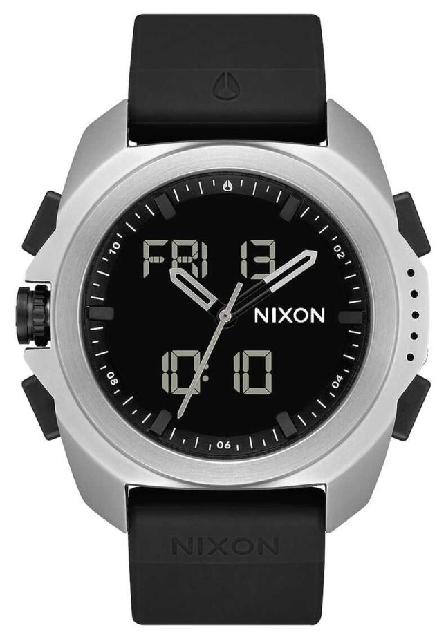 Nixon Ripley | Silver / Black | Digital | Black TPU Strap A1267-625-00