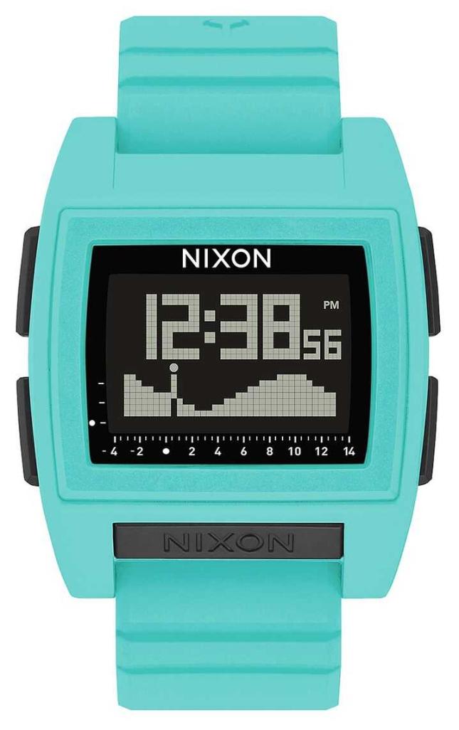 Nixon Base Tide Pro | Seafoam | Digital | Turquoise Silicone Strap A1307-272-00