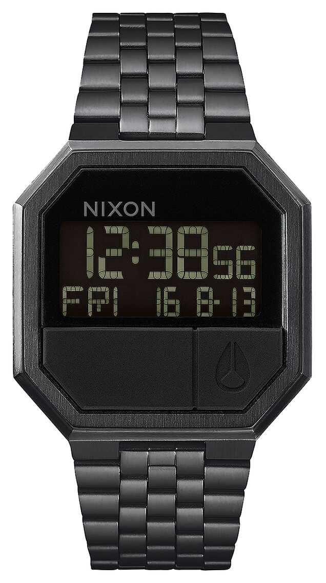 Nixon Re-Run | All Black | Digital | Black IP Steel Bracelet A158-001-00