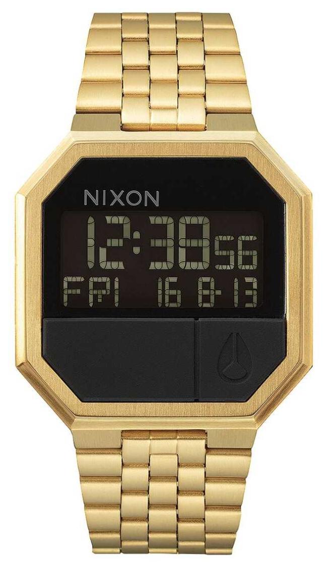 Nixon Re-Run | All Gold | Digital | Gold IP Steel Bracelet A158-502-00
