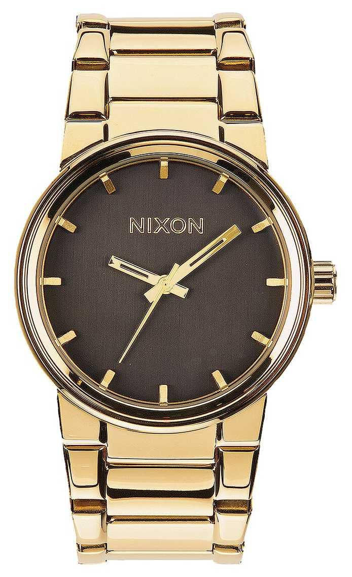 Nixon Cannon | All Gold / Black | Gold IP Steel Bracelet | A160-510-00