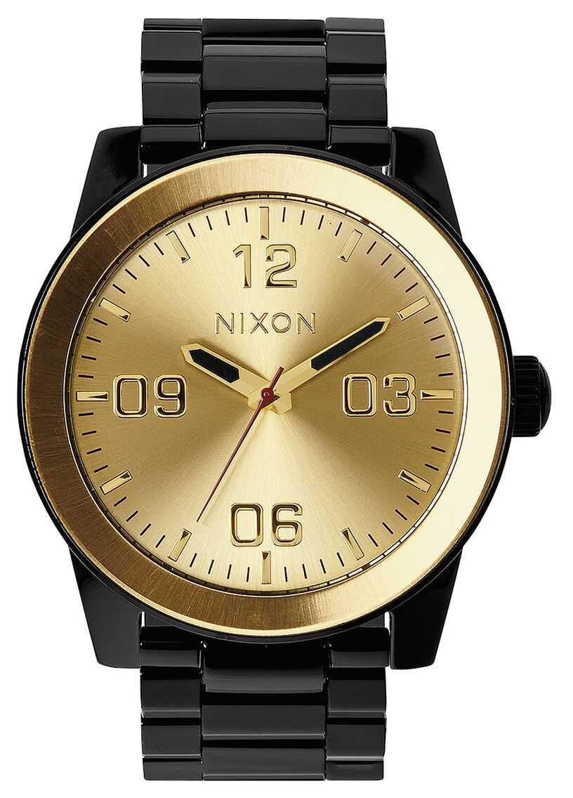 Nixon Corporal SS | Black / Gold | Black IP Steel Bracelet | Gold Dial A346-010-00