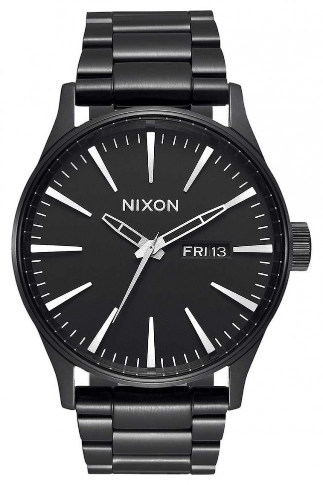 Nixon Sentry SS | All Black | Black IP Steel Bracelet | Black Dial A356-001-00