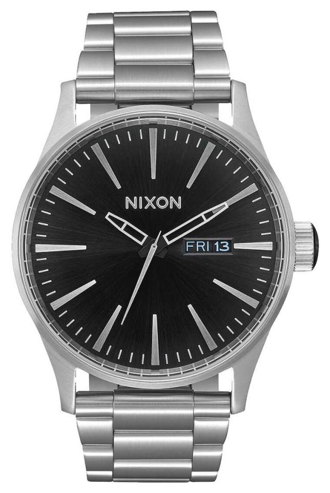 Nixon Sentry SS   Black Sunray   Stainless Steel Bracelet   Black Dial A356-2348-00