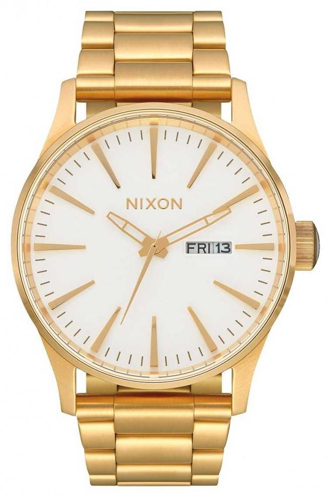 Nixon Sentry SS | Gold / White | Gold IP Steel Bracelet | White Dial A356-508-00