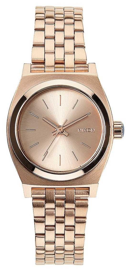 Nixon Small Time Teller | All Rose Gold | Rose Gold IP Steel Bracelet | Rose Gold Dial A399-897-00