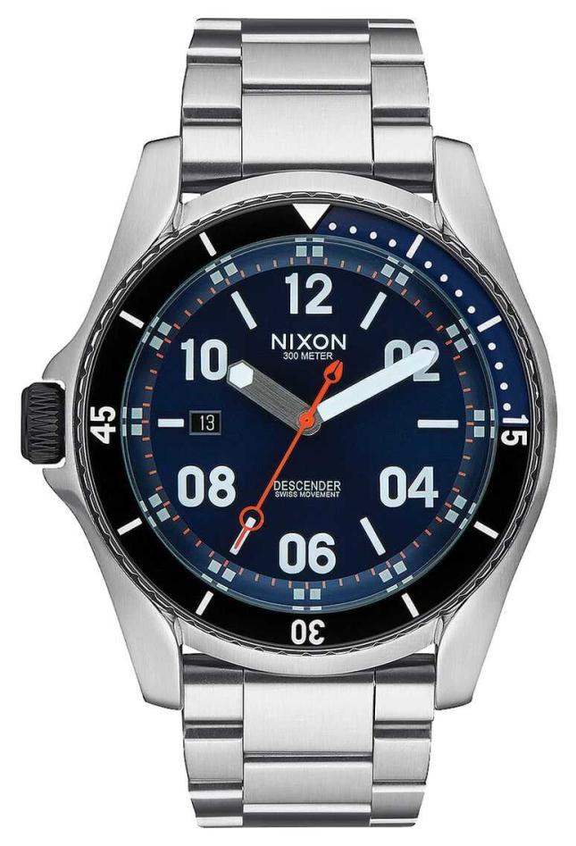 Nixon Descender | Blue Sunray | Stainless Steel Bracelet | Blue Dial A959-1258-00