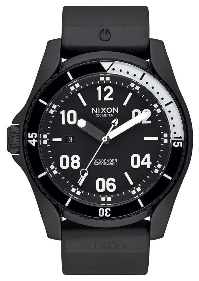 Nixon Descender Sport | All Black | Black Silicone Strap | Black Dial A960-001-00