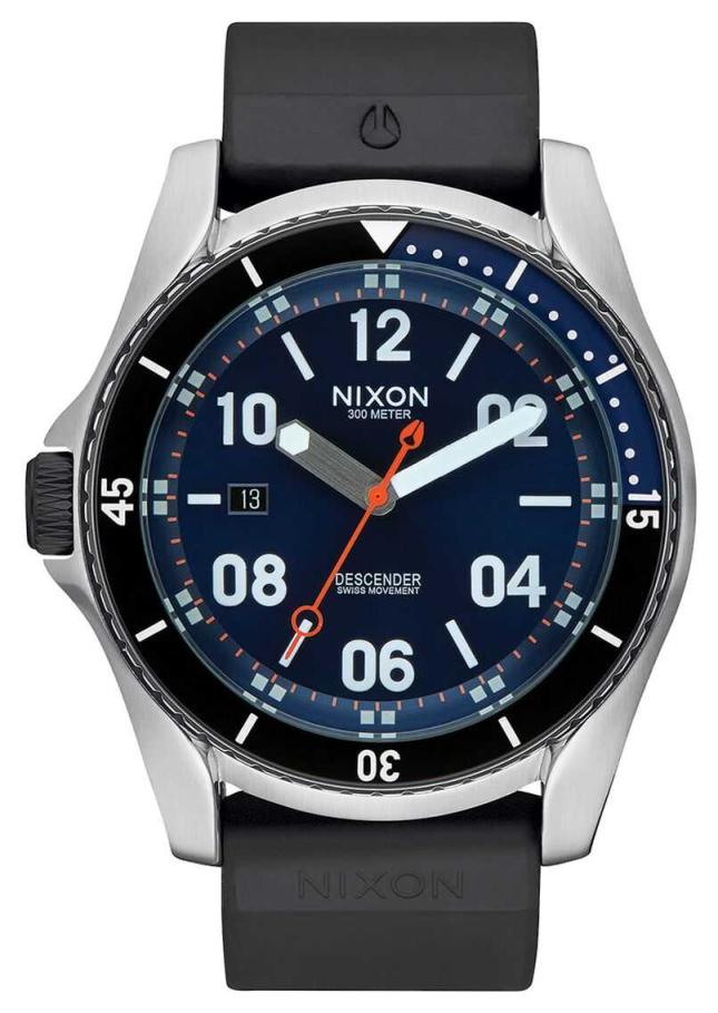 Nixon Descender Sport | Blue Sunray | Black Silicone Strap | Blue Dial A960-1258-00