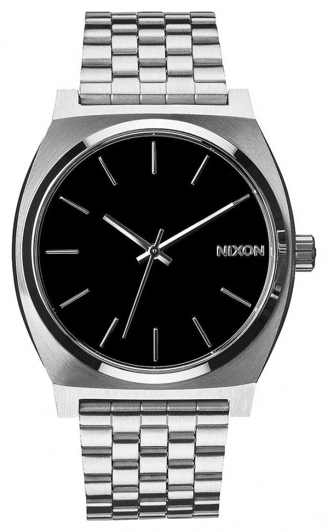 Nixon Time Teller | Black | Stainless Steel Bracelet | Black Dial A045-000-00