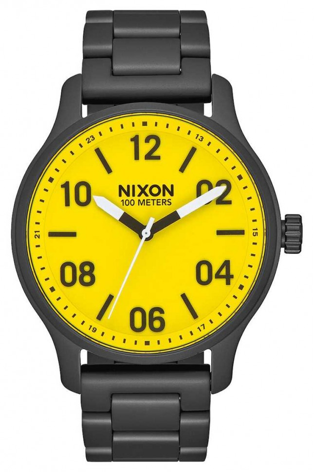 Nixon Patrol | All Black / Yellow | Black IP Steel Bracelet | Yellow Dial A1242-3132-00