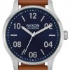 Nixon Patrol Leather | Navy / Saddle | Brown Leather Strap | Blue Dial A1243-2186-00
