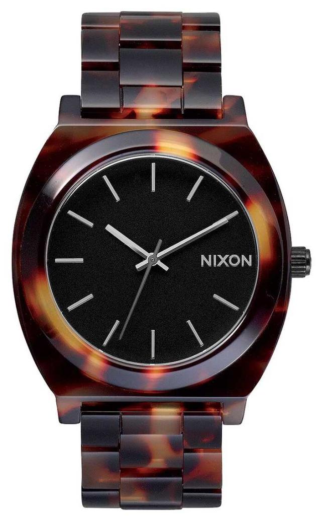 Nixon Time Teller Acetate | Tortoise | Black Dial A327-646-00