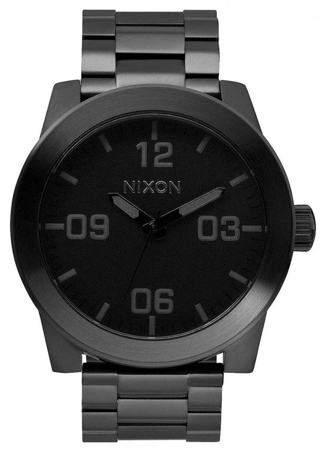 Nixon Corporal SS | All Black | Black IP Steel Bracelet | Black Dial A346-001-00