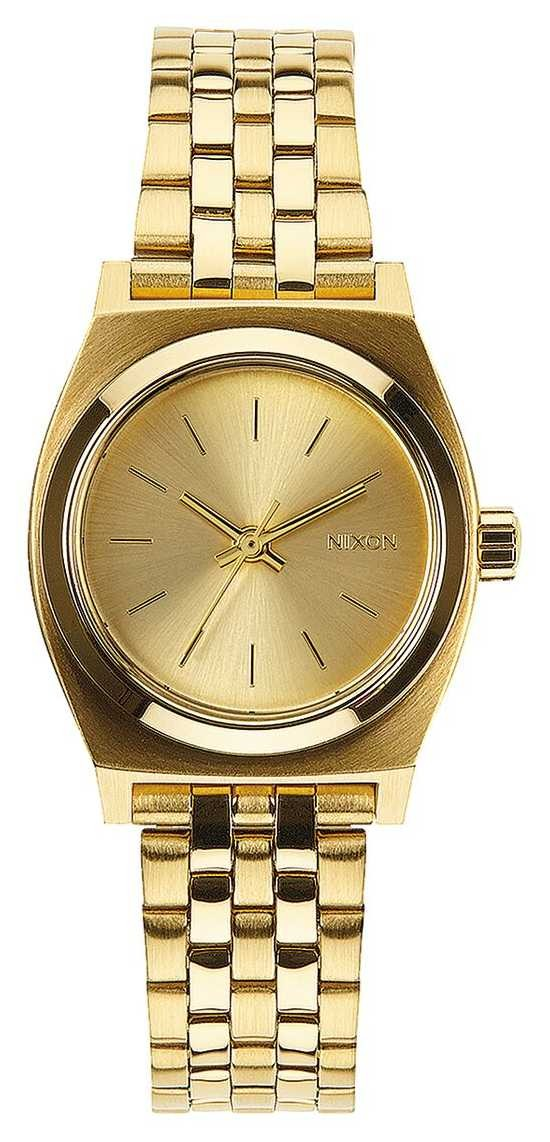 Nixon Small Time Teller | All Gold | Gold IP Steel Bracelet | Gold Dial A399-502-00