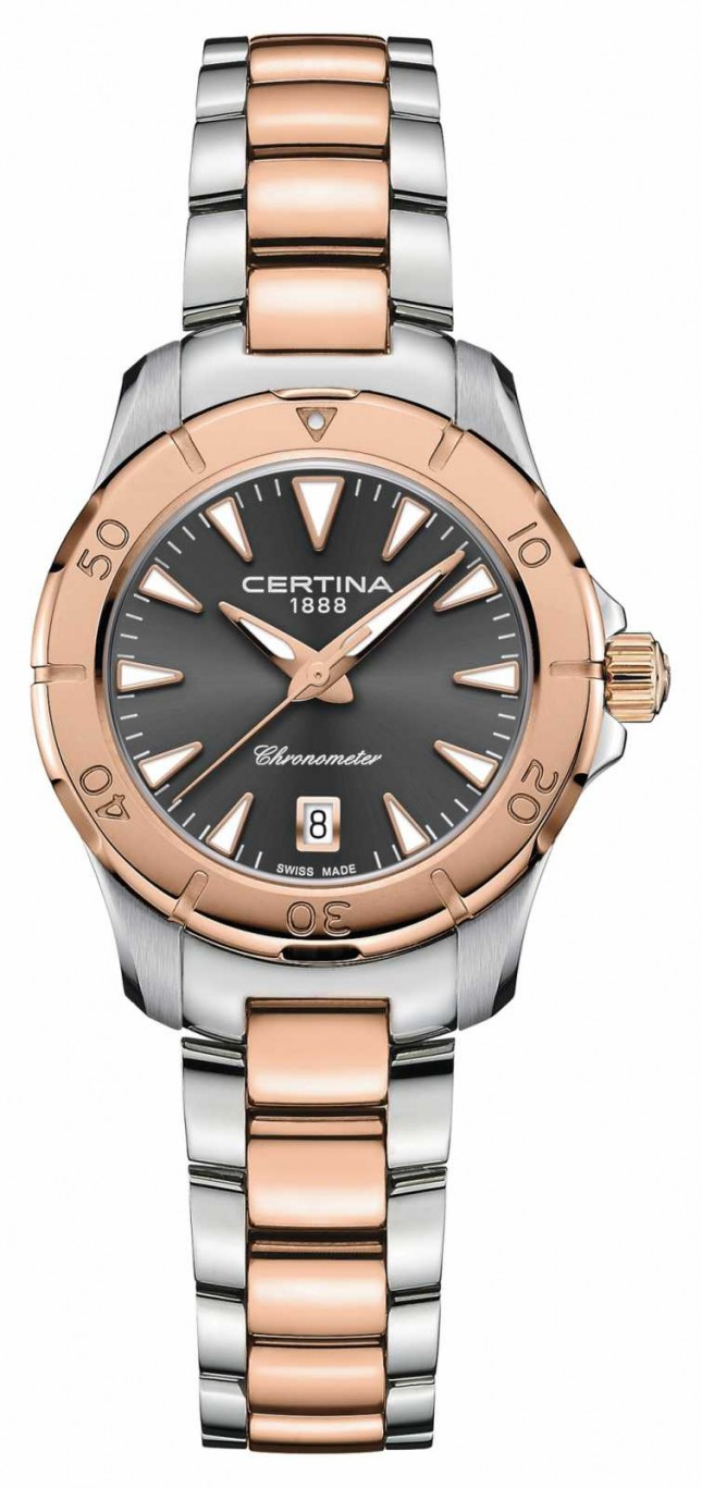 Certina DS Action | Two-Tone Steel Bracelet | Grey Dial | COSC C0329512208100