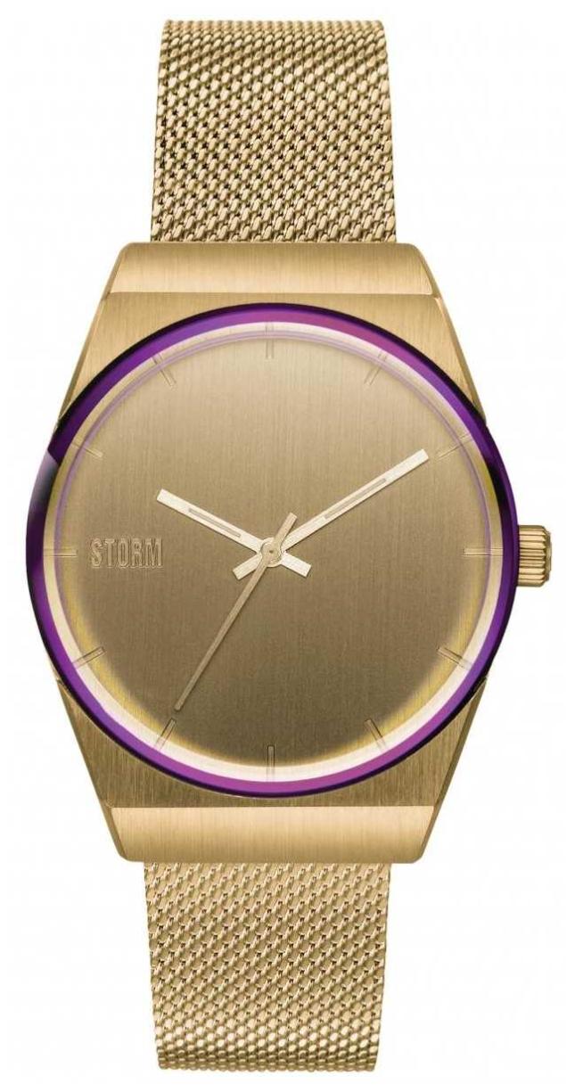 STORM Mini Cirero Gold   Gold Mesh Bracelet   Gold Dial 47486/GD