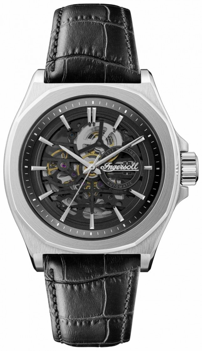 Ingersoll Men's 1892 The Orville   Automatic   Black Leather Strap   I09302B