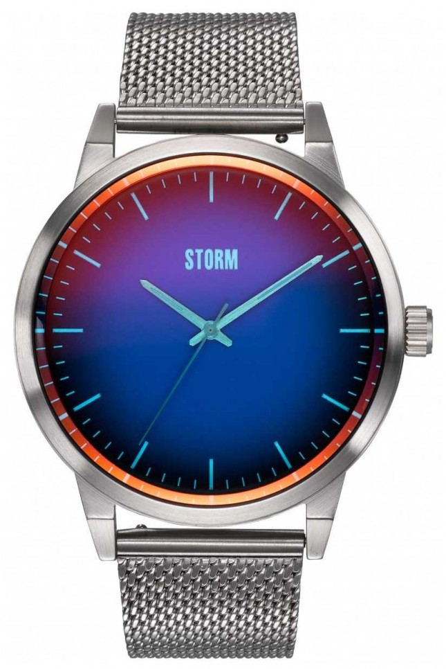 STORM Styro Lazer Blue   Steel Mesh Bracelet 47487/LB