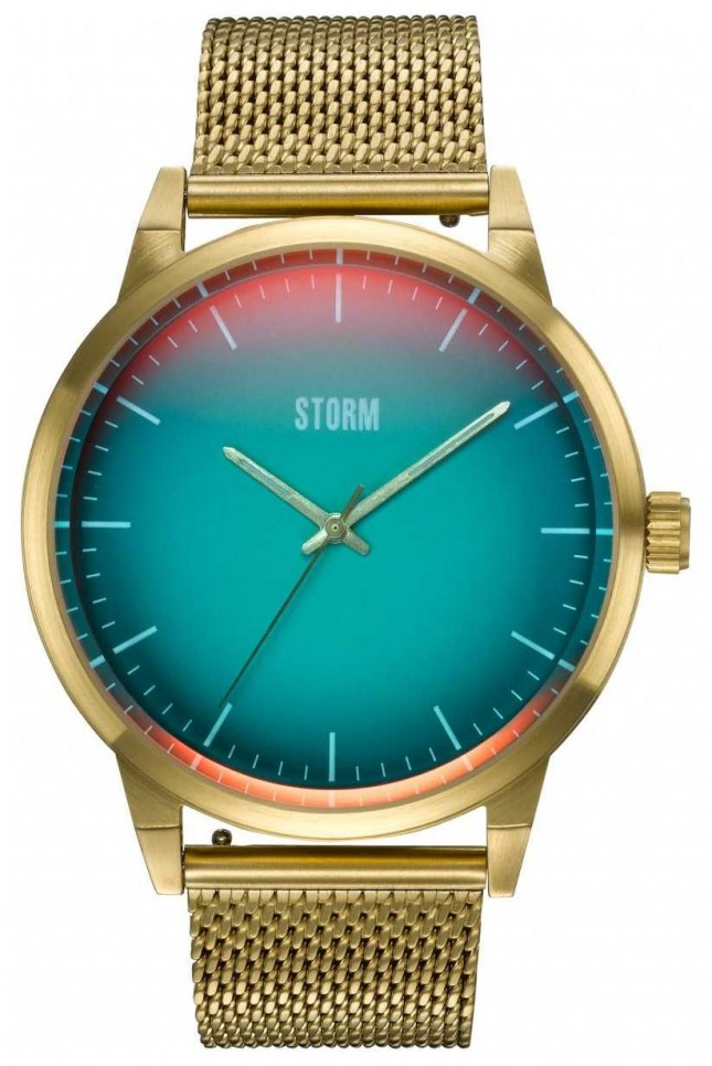STORM Styro Gold Turquoise | Gold Mesh Bracelet | 47487/GD/TUR